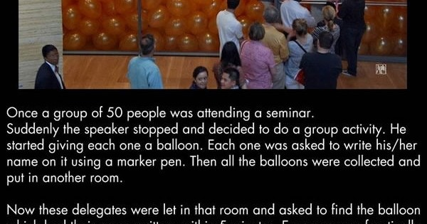 50 People Were Asked To Enter A Room Filled With Balloons..