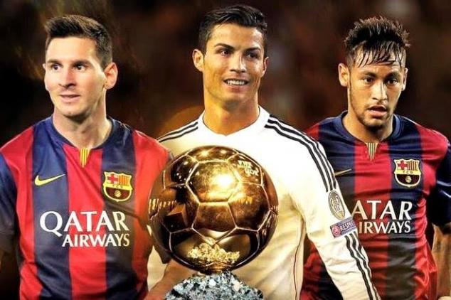 2015 FIFA Ballon d'Or Top Three finalists Revealed (The Barcelona Duo Of Lionel Messi And Neymar Jr., And Real Madrid's Cristiano Ronaldo)