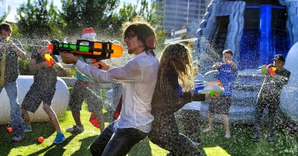 Parkour Water Fight