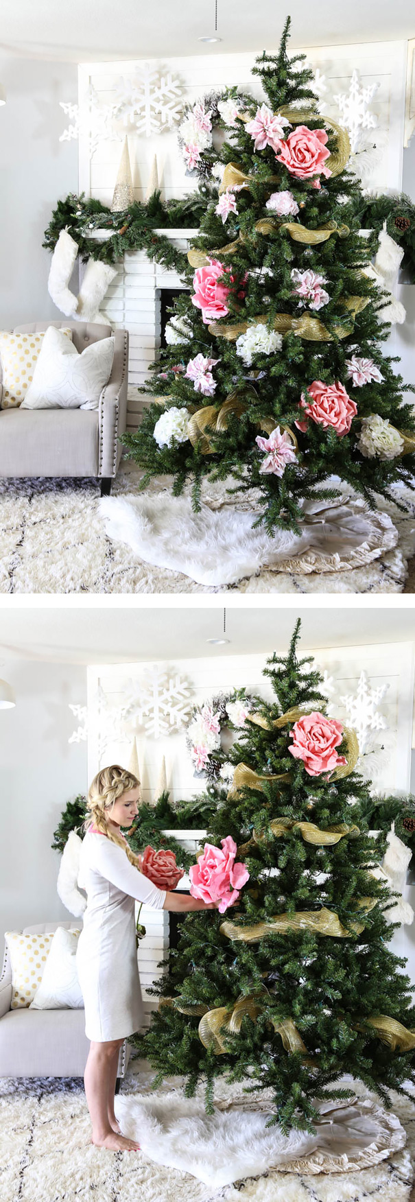 People Are Decorating Their Christmas Trees With Flowers And The Results Are6