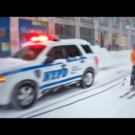Snowboarding Thru New York City