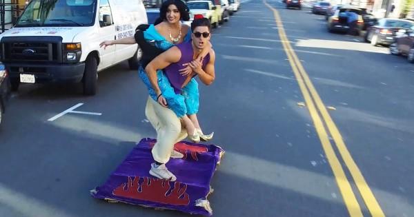 Watch Aladdin Magic Carpet ride in San Francisco